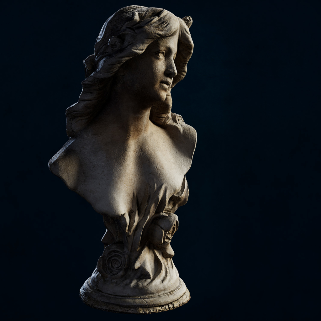 3D Scan Photogrammetry - Female Bust Sculpt - Front