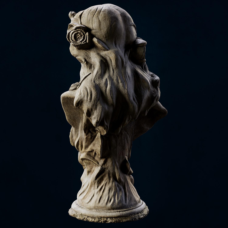 3D Scan Photogrammetry - Female Bust Sculpt - Back