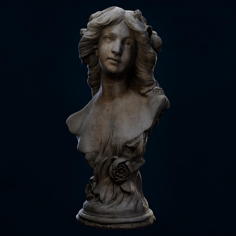 3D Scan Photogrammetry - Female Bust Sculpt - Neutral Lighting