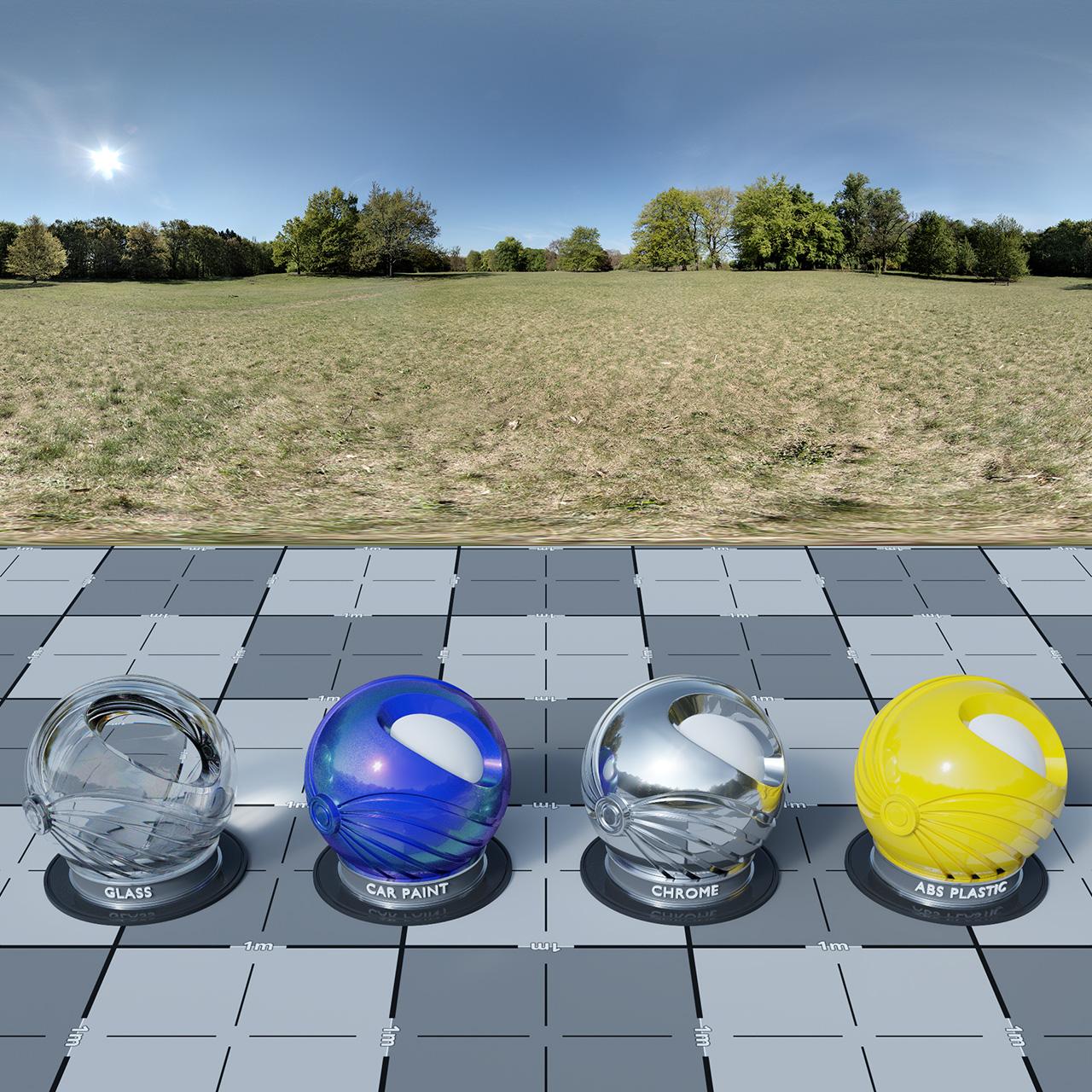 HDRI CGI Lighting - Sunny Meadow
